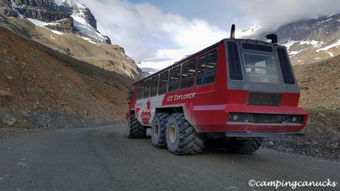 A glacier tour bus