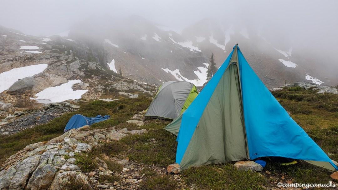 A wet camp