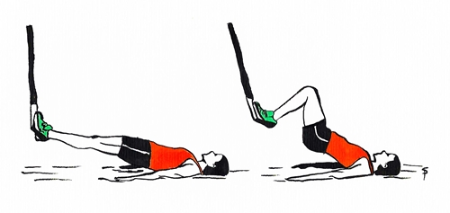 Esercizi gambe arrampicata