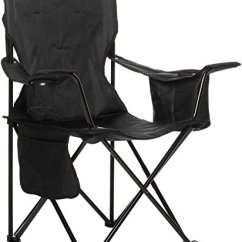Padded Camping Chair Double Adirondack Chairs With Umbrella Amazonbasics Cooler Black Campingepic