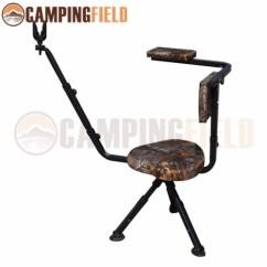 Portable Hunting Chair Little Tikes Swivel 360 Degree Tripod Camo Shooting Pet