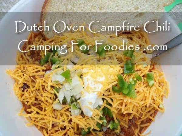 Campfire Dutch Oven Chili Recipe