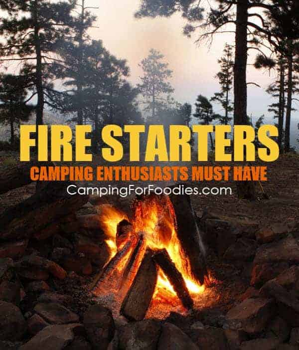 Fire Starters Camping Enthusiasts Must Have by CampingForFoodies has great tips for starting your fire for this Campfire Dutch Oven Chili Recipe