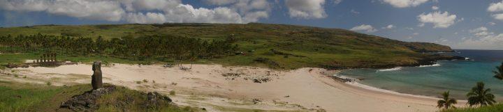 Pano Anakena Beach, Easter Island