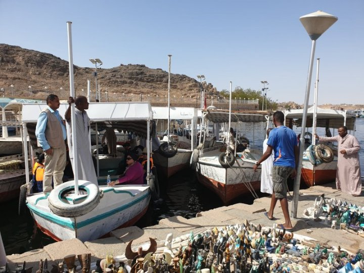 Take your pick of boats to get out to Lake Nasser.