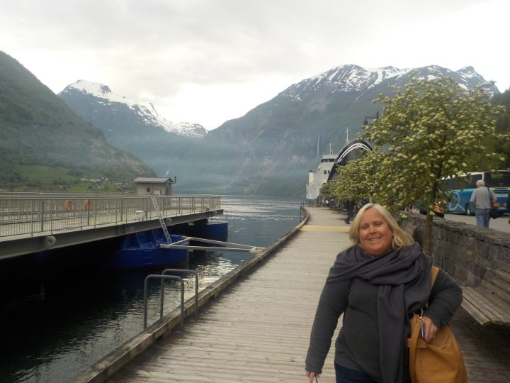 Leaving the ferry at Geiranger