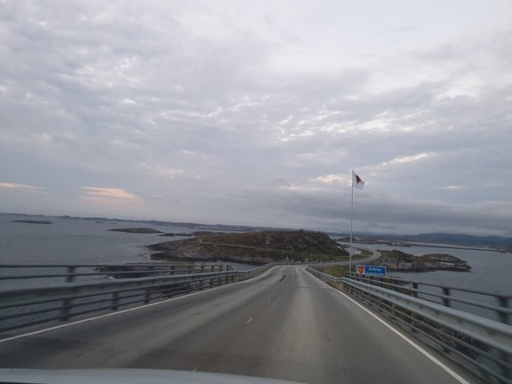 Crossing in to Averoy via the Atlantic Road Norway