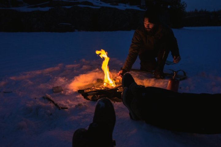 making fire in the subarctic