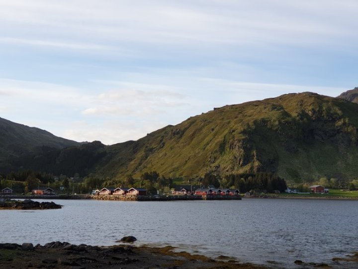 Camping spot and cabins, Lofoten Islands Norway
