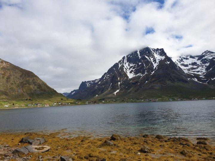 Clean and pristine Lofoten Islands Norway