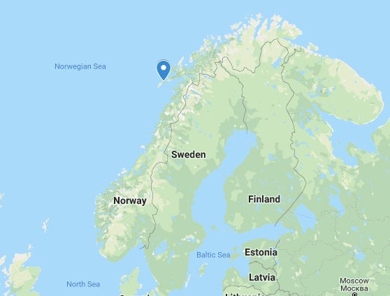 Lofoten Islands Norway location