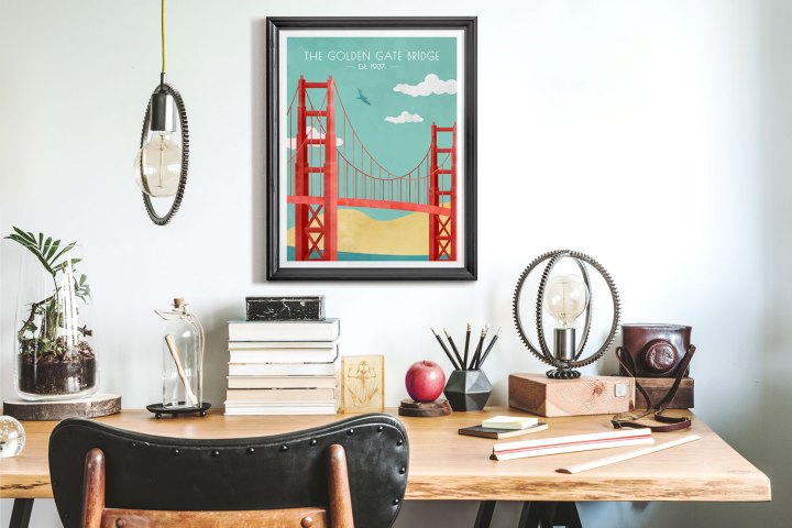 Golden Gate Bridge framed