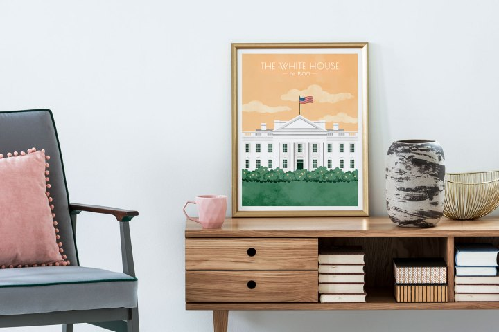 White House framed