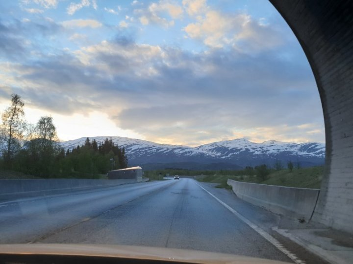 exiting tunnel to the midnight sun norway