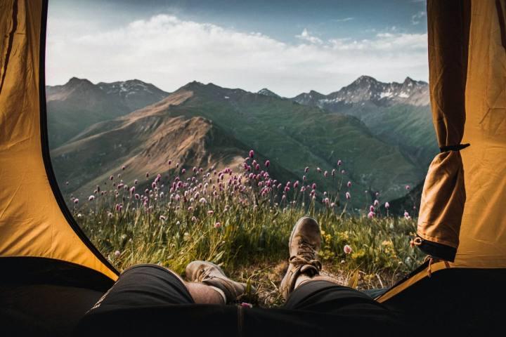 camping among nature