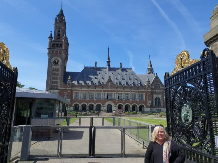 Outside the Peace Palace and International Court of Justice, The Hague