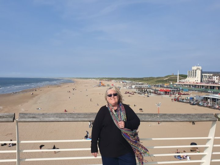 Scheveningen beach from the pier, The Netherlands