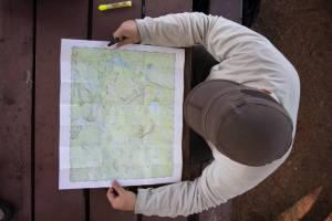 Planning for backpacking requires checking and rechecking the map until you are sure of every detail.