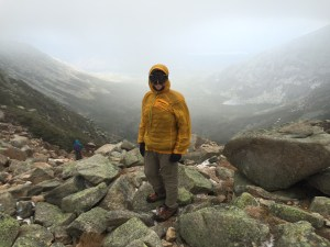 Standing at the top of Katahdin's Saddle Trail in Baxter State Park.