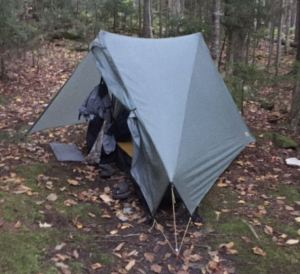 The Tarptent Notch's narrow profile allows it to be set up in small spaces around crowded backpacker sites.