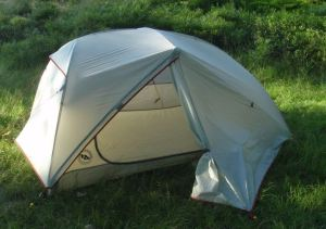 A free standing tent by Big Agnes is a great tent for backpacking or bikepacking.