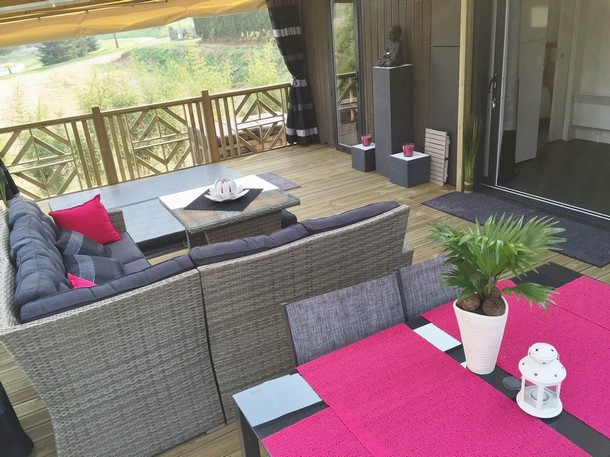Mobil Home Luxe Jacuzzi Privatif Terrasse Panoramique
