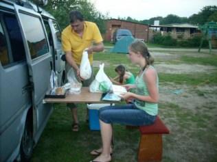 Kolacja camping