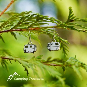 Earrings – Boler/Casita/Scamp – White