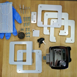 Boler – Door Lock Replacement Kit – Chrome – Fits Scamp & 1968-1974 Boler