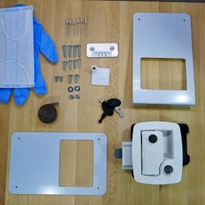 Boler – Door Lock Replacement Kit for Bargman L400 – White – fits 1975-1988 Boler