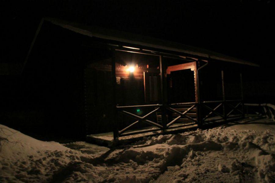 Bungalow in Legno del Camping Vettore a Montegallo sui