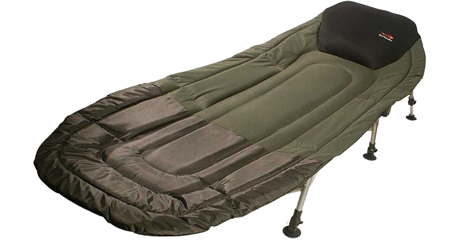 fishing chair bed reviews folding chairs costco your complete guide to camp beds sleeping in comfort under canvas tfgear chill out 3 leg