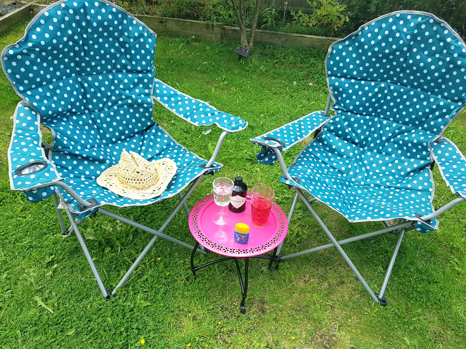 festival folding chair oak dining table and chairs gumtree trail deluxe polka dot camping