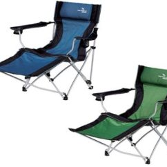 Reclining Camping Chair With Footrest Racing Gaming Easy Camp Relax Foot Rest | Campingworld.co.uk