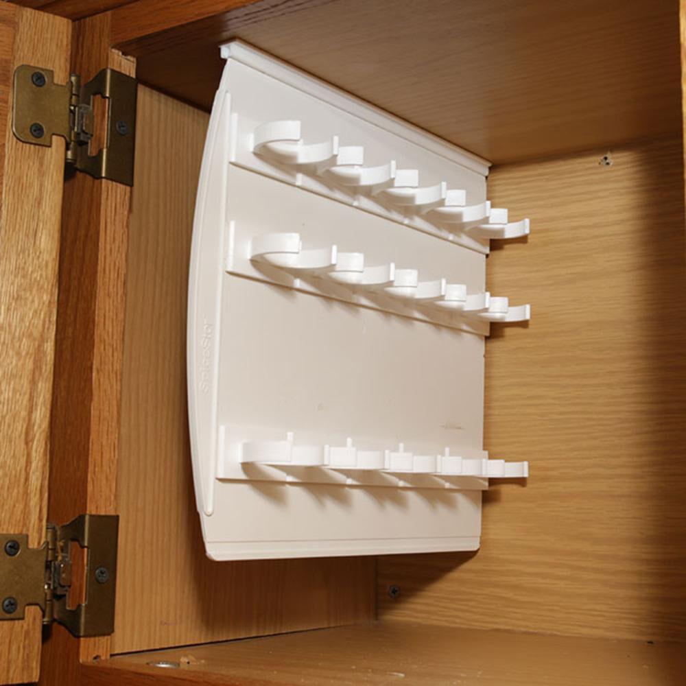 large sliding cabinet spice rack