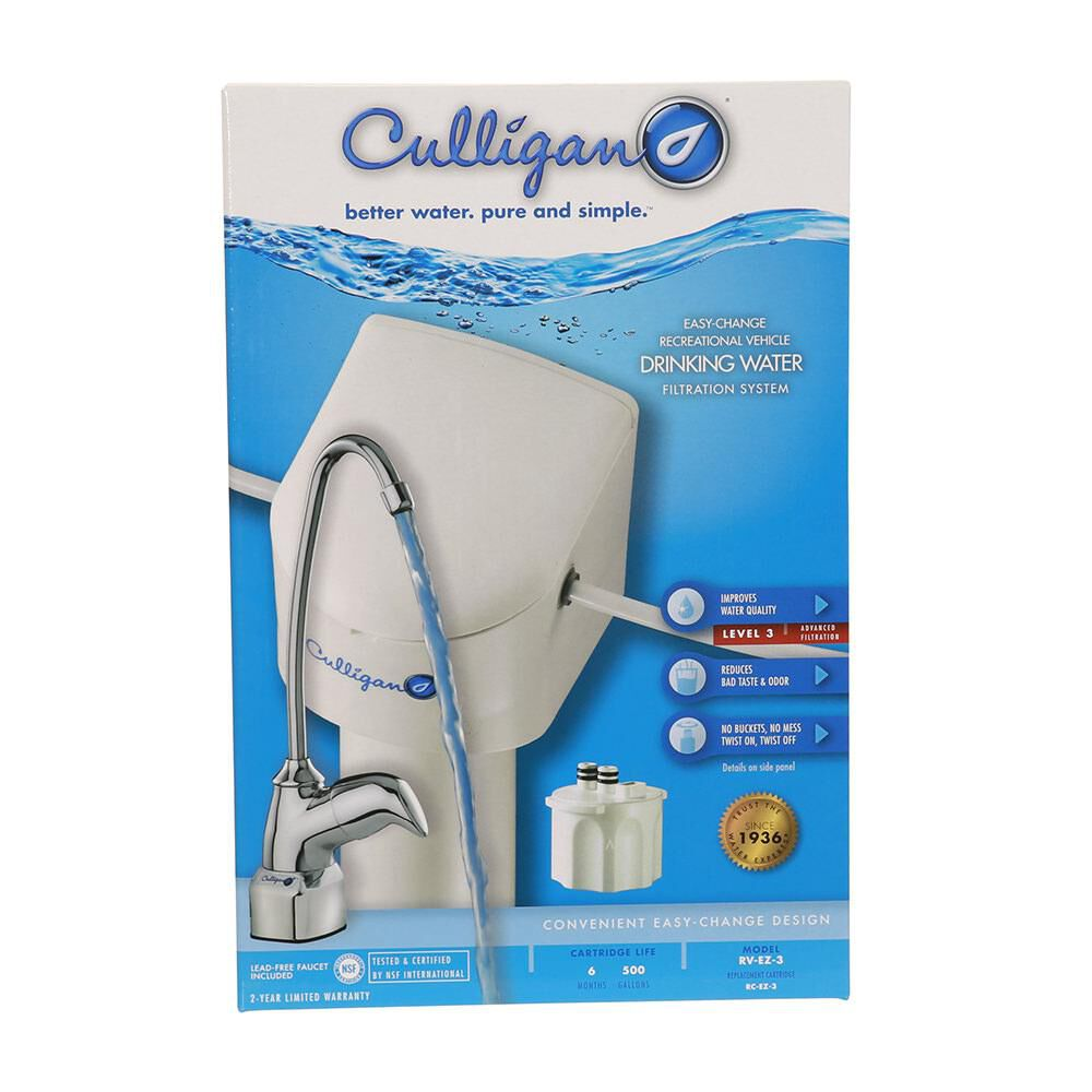 culligan rv ez 3 undersink water filter kit with faucet