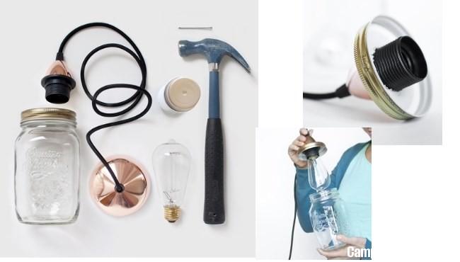 Come creare una lampada con i barattoli delle conserve  CampioniOmaggioit Campioni Omaggio