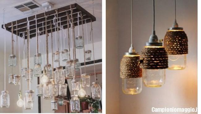 Come creare una lampada con i barattoli delle conserve