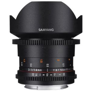 Samyang 14mm T3.1 ED AS IF UMC II Video Lens