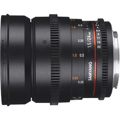 Samyang 24mm T1.5 ED AS IF UMC II VDSLR Lens