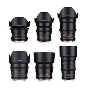 Samyang 6 Piece VDSLR II Cine Lens Set Kit (14/24/35/50/85/135mm) Canon Mount