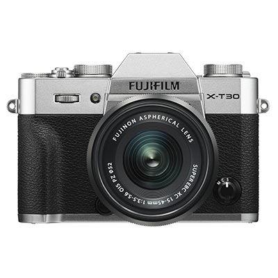 Fujifilm X-T30 Digital Camera with XC 15-45mm Lens - Silver