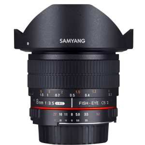 Samyang 8mm f3.5 UMC Fisheye CS II Lens