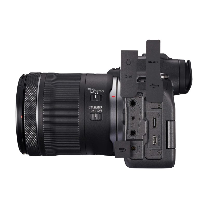 Canon R6 + 24-105 Lens with function buttons on show