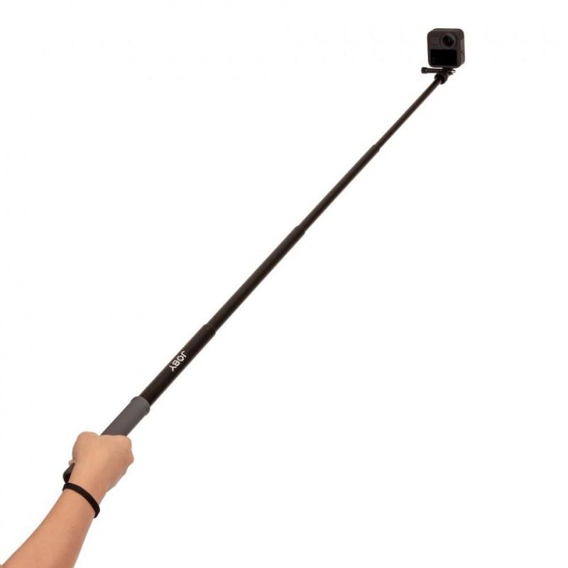action pole joby telepod sport jb01657 bww extended in hand gopro