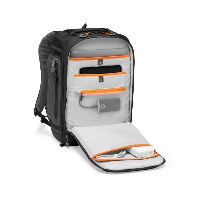 camera backpack lowepro pro trekker bp 350 aw ii lp37268 pww front pockets