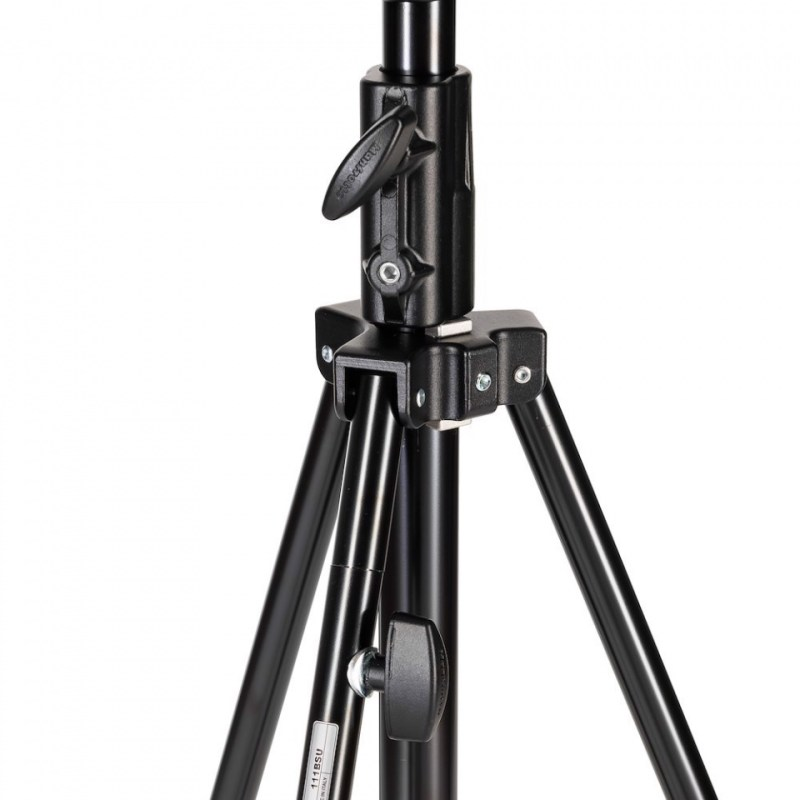 manfrotto black tall 3 s stand 1 levelling leg 111bsu 3