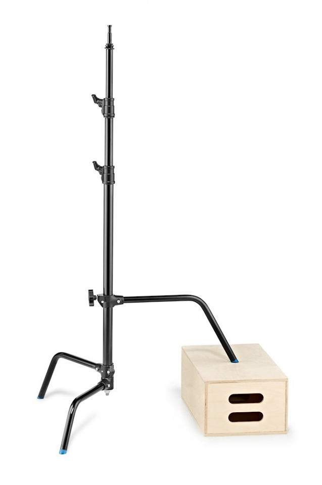 c stands c stand 25 with sliding leg in black finish version a2025lcb gambalivellante