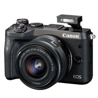 Canon EOS M6 Mirrorless Camera in Black + 15-45mm Lens