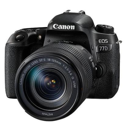 Canon EOS 77D Digital SLR Camera with 18-135mm IS USM Lens